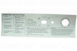 SIGN,INSTRUCTION GEN 4 SILVER W74,124,184 COIN OPERA-