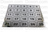 WASHER IDENTIFICATION NUMBER DECALS 1-25