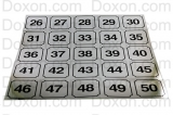 WASHER IDENTIFICATION NUMBER DECALS 26-50