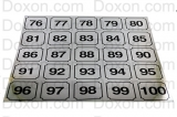 WASHER IDENTIFICATION NUMBER DECALS 76-100